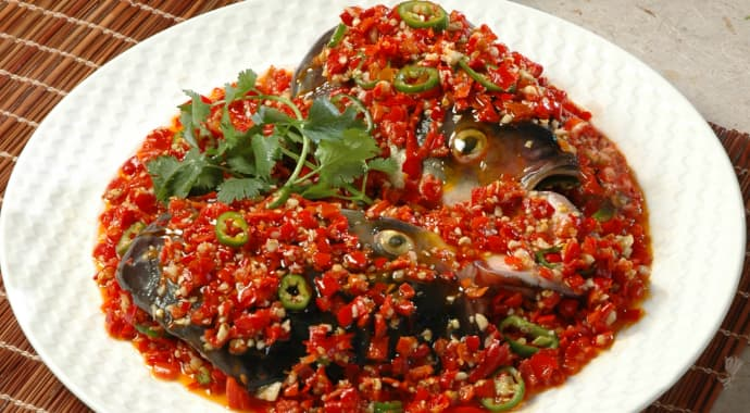 Fish Head with Chopped Chilli